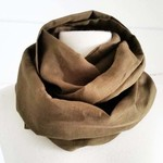 Infinity Scarf Loop Scarf Olive Scarf Linen Scarf