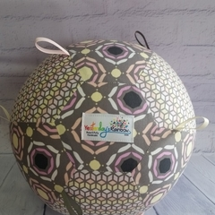 Balloon Ball: Grey, Peach, Lemon. Taggie to match