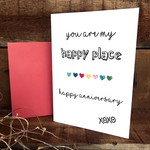You are my happy place anniversary card