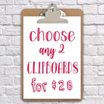 clipboard art wall decor 