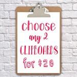 clipboard art wall decor  2 clipboards for $28
