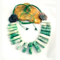 Fashion Hand-crocheted Tribal Necklace with Natural Australian Gemstones.