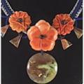 Fashion Handcrockheted Australian Ocean-wave JASPER & MALACHITE Flowers Necklace