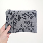 Screen printed nothofagus gunnii pouch / clutch / purse / wallet