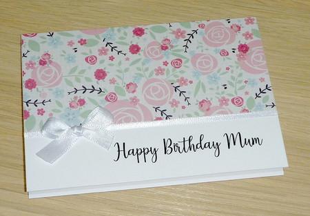 Happy Birthday Mum - pink roses