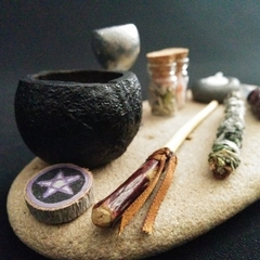 Mini altar kit for travel, tiny spaces and miniature witches