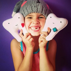 """Tooth fairy pillow with pocket """"HEART"""""""