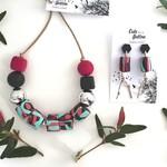 Colour Splat Jewellery Set - Pinks/Aqua