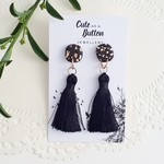 Tassel Dangle Earrings  Black