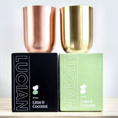 Brass Soy Candle in Lime & Coconut