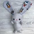 Floppy Bunny - Grey