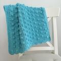 30% OFF Crochet Baby Blanket Turquoise