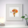 "Poppies, watercolour - art print 9""x9"" (also available in other square sizes)"