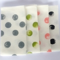 Linen Fabric Table Napkins | Serviettes | Polka Dot | Spot | Set 2 Olive Green