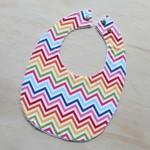 Rainbow Chevron Baby Bib