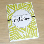 Female Birthday card - green fern
