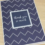 Thank you so much card - navy