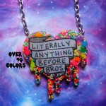 Literally Anything Before Bros Resin Necklace, Riot Grrrl, Feminist, Pastel Goth