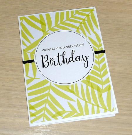 Female Birthday card - green fern