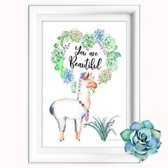 Llama You are Beautiful Printable
