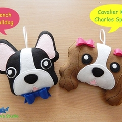 Dog Tooth Fairy Pillow / Dog Ornament / French Bulldog / Cavalier King Charles