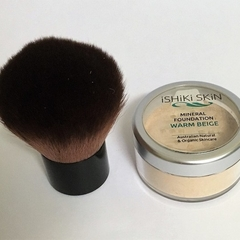 All Natural Mineral Makeup Powder for Light-Medium Neutral Skin + Kabuki brush