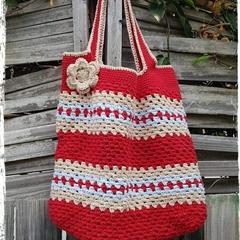 Handmade Crochet Market bag..