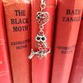 Red Rhinestone Owl Bookmark