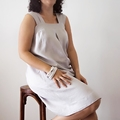 Women's Loose Fit Dress in Linen