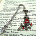 Red Rhinestone Owl Bookmark
