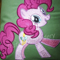 """Pinkie Pony"" Reading/Pocket Cushion (cover only)"