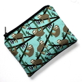Small Coin Purse in Cute Sloth Fabric