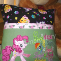 """""""Pinkie Pony"""" Reading/Pocket Cushion (cover only)"""
