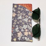 Glasses Case - Sunnies Case - Grey Floral Fabric - Gifts for Her, Gifts under 20