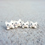 Mum and bub kitty set earrings.Cute cats.Polymer clay.Gift for Mother's day