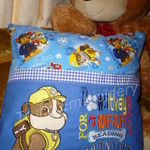 """Construction Pup - Paw Patrol"" Reading/Pocket Cushion (cover only)"
