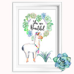 Llama You are Beautiful Printable