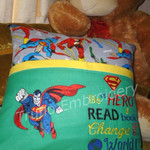 """Superman"" Reading/Pocket Cushion (cover only)"