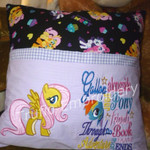 """Flutter Pony"" Reading/Pocket Cushion (cover only)"