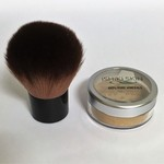 All Natural Mineral Makeup Powder for Dark Medium/Olive Skin + Kabuki brush