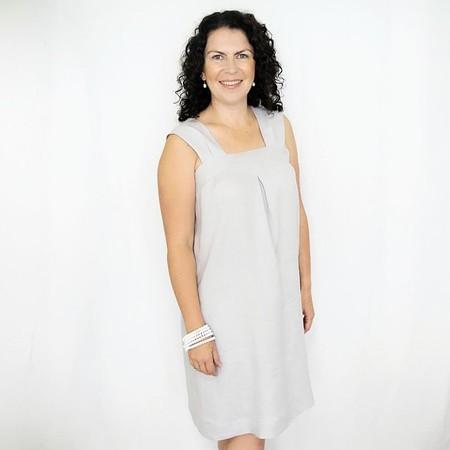 Women's Loose Fit Dress in Linen