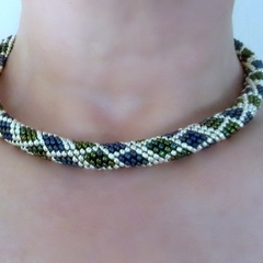 Snake Pattern Beaded Necklace