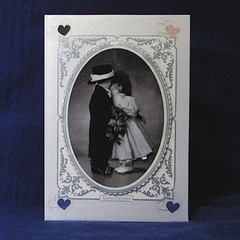 Engagement or Wedding Card with Sweet Young Couple