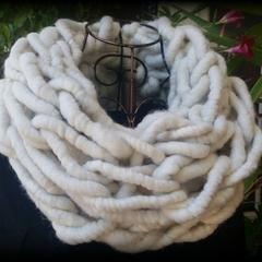 Cream 100% unprocessed Baby Alpaca Wool super chunky