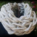Cream 100% unprocessed Baby Alpaca Wool super chunky