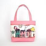 Little Girls Bag - Pink Houses