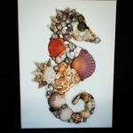 Seashell Seahorse - Seahorse - wall hanging - wall decor - wall art