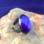 4 Choices Blue Cat Eye Stone, Onyx, Red and Purple Agate, Adjustable Ring Size.