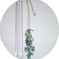 Sea necklace,acrylic beads,sea creatures, coral reefs, crabs and mermaids