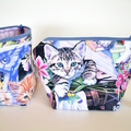 Kitten gift, cosmetic pouch, small makeup bag, cat lover gift